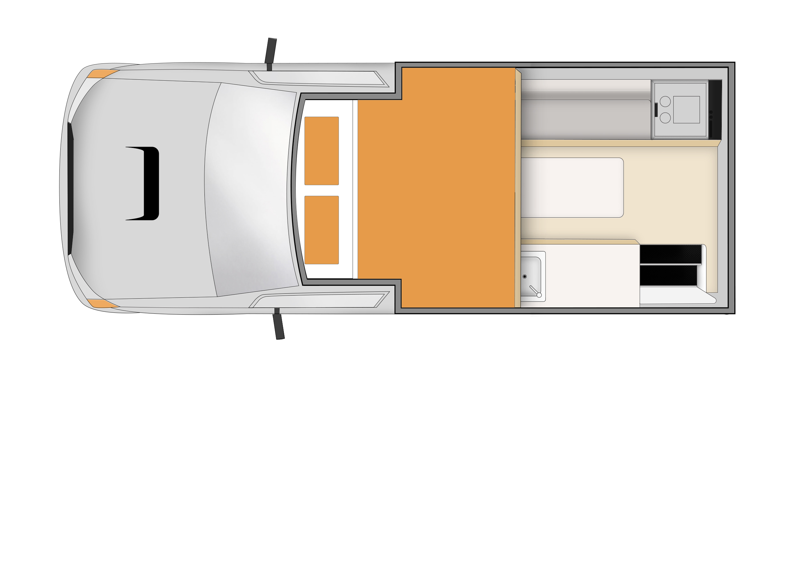 Apollo Motorhome Holidays Australia, Adventure Camper Plan 1