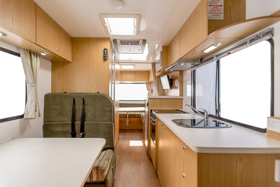 Apollo Euro Camper Floorplan Night time