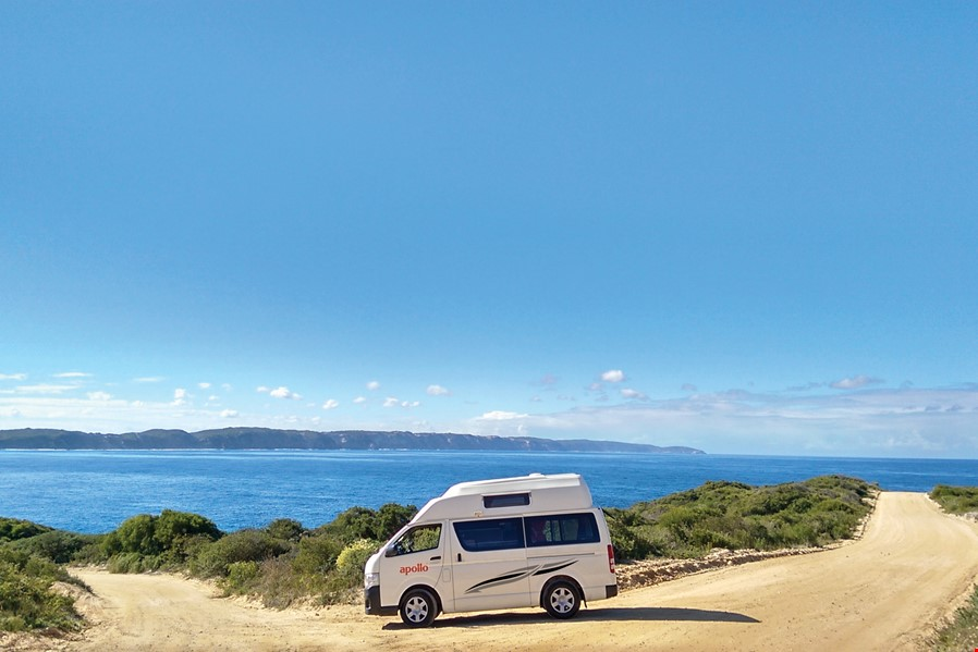 hitop camper campervan hire from apollo motorhomes australia apollo hitop camper floor plan night time